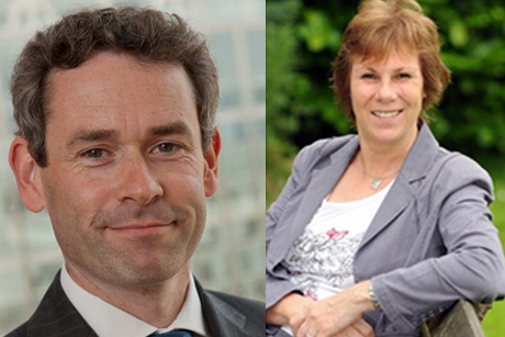 Industry view: Direct Line's Andrew Friel (l) and PR professor Anne Gregory