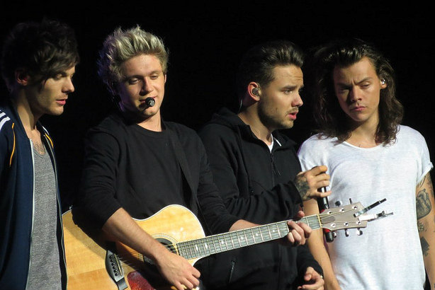 One Direction in Glasgow, Scotland, in October 2015 (Credit: Marc E. via Flickr)