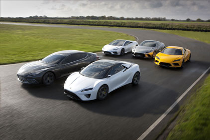 Lotus: aims to promote new road cars