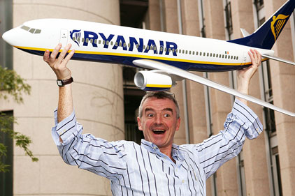 Flying high: Ryanair CEO Michael O'Leary