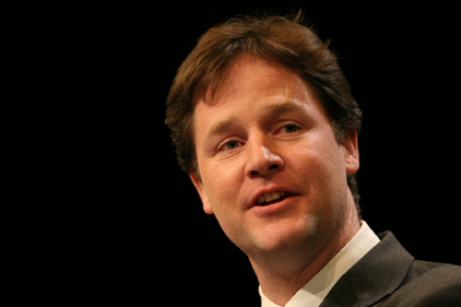 Nick Clegg: attacked David Cameron's EU veto