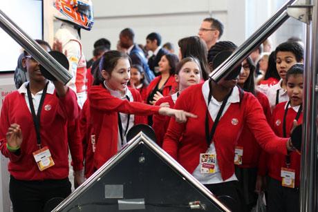 Big interest: Schoolchildren at the Big Bang Fair 2013