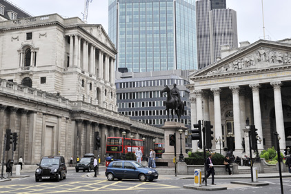 City of London: home to the UK banking industry