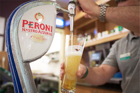 Peroni: Owned by Miller Brands