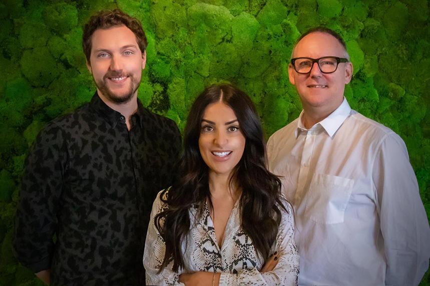 (l-r) Michael Sheen, Rachael Stone & Darren Young