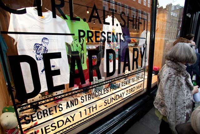 Not-For-Profit Award winner: Christian Aid 'Ctrl.Alt.Shift Presents Dear Diary' with John Doe