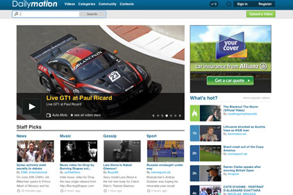 Dailymotion: world's second largest video sharing website