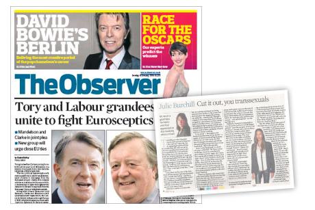 Observer: Backlash over Burchill column