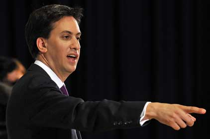 Making his point: Ed Miliband