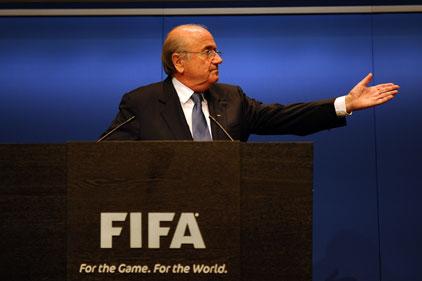 Facing the media: Sepp Blatter