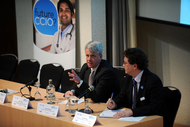 Flexible future: Andrew Lansley (left) at the campaign launch