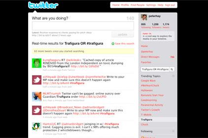 Trending on Twitter: Trafigura
