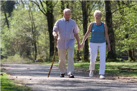 Older people: Walking could help prevent diabetes (Credit: Thinkstock)
