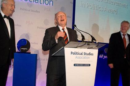 Award:Neil Kinnock(centre) with John Snow (left) and David Davis
