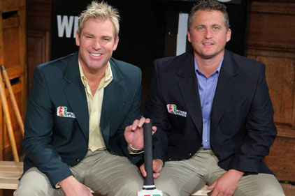 Warne and Gough: to play Ashes poker
