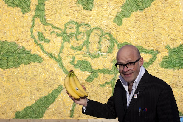 Fairtrade Fortnight: Comedian Harry Hill and a banana billboard featured in publicity