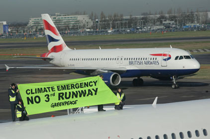 Controversy: protests against 3rd Heathrow runway