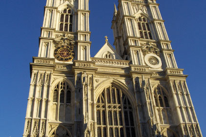 Westminster Abbey: drinks with the new Government