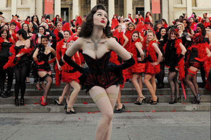 Campaigns: Tourism - Burlesque beauties take off for Virgin