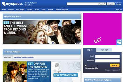 Social networking site: MySpace