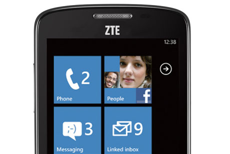Small footprint:  ZTE is much bigger in Asia than it is in Europe