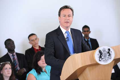 David Cameron: launched Entrepreneur First in March