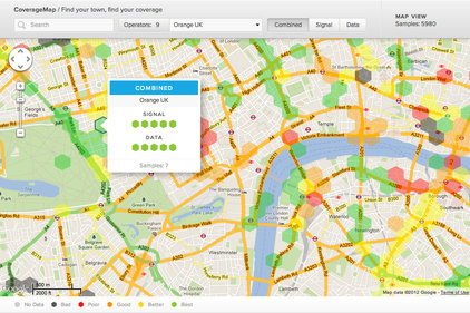 RootMetrics: Mobile signal on a map