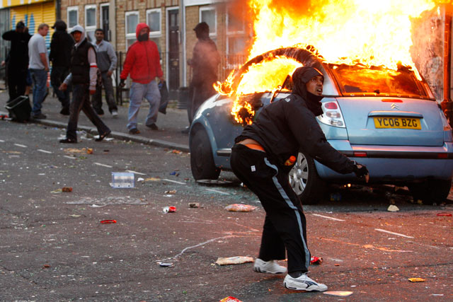 Chaos: The report says councils have 'lessons to learn' over the riots (Getty Images)
