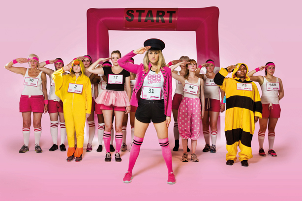 Ashley Roberts leads her army of Race for Life runners for the launch of 888ladies sponsorship