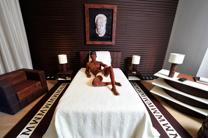 Sweet dreams: GolinHarris asked Karl Lagerfeld to create a hotel suite made of chocolate