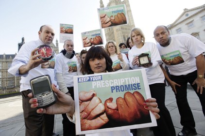 Protest: Prescription Charging Coalition
