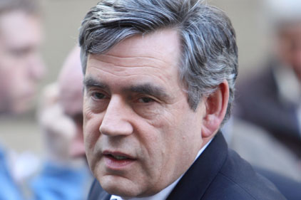 Targeting over fifties: Gordon Brown
