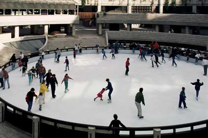 City life: Broadgate's ice rink (Rex Features)