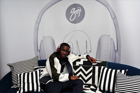 Brand ambassador: Tinchy Stryder teamed up with Dixons to promote its Goji accessory range