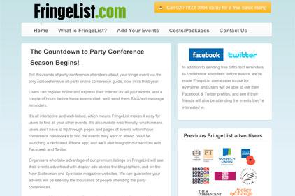 Online hub for fringe events: Fringelist.com