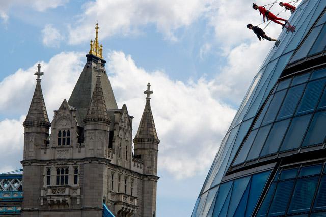 London 2012 Festival: 'secret' dance stunt