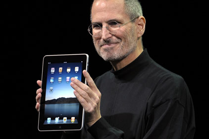 Hype: the iPad launch, with Apple's chief executive Steve Jobs