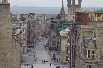 Edinburgh's Royal Mile: central for Fringe performers
