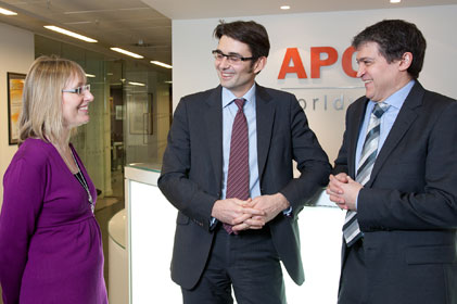 APCO partnership: Joanne Milroy, Edward Walsh and Chris Genasi