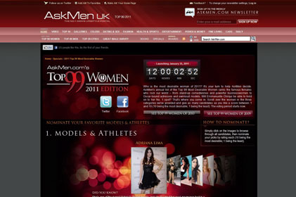 one of the biggest websites for men: AskMen