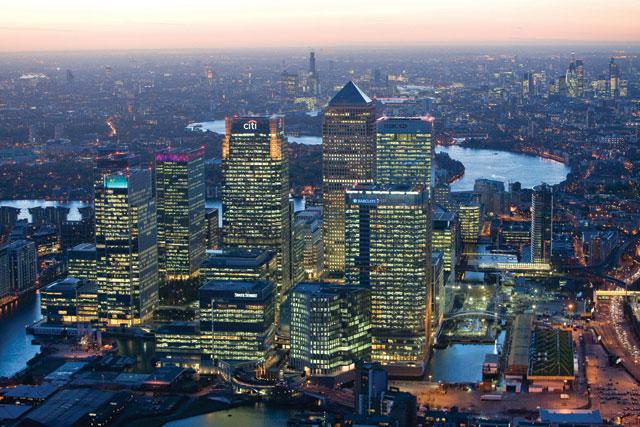 Seeking global firms: Canary Wharf