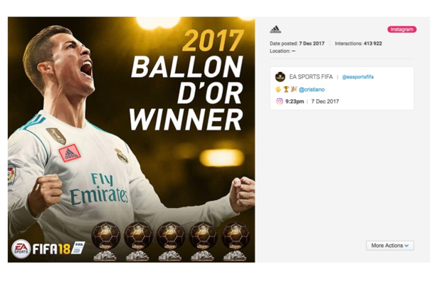 Adidas: its logo made the most appearances across Twitter and Instagram in 2018