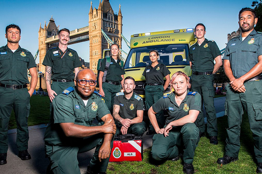 Paramedics who featured in the recent series of 'Ambulance' on BBC One