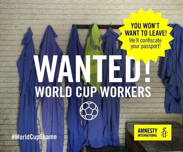 Amnesty International: Group alleges widespread abuse of World Cup construction workers