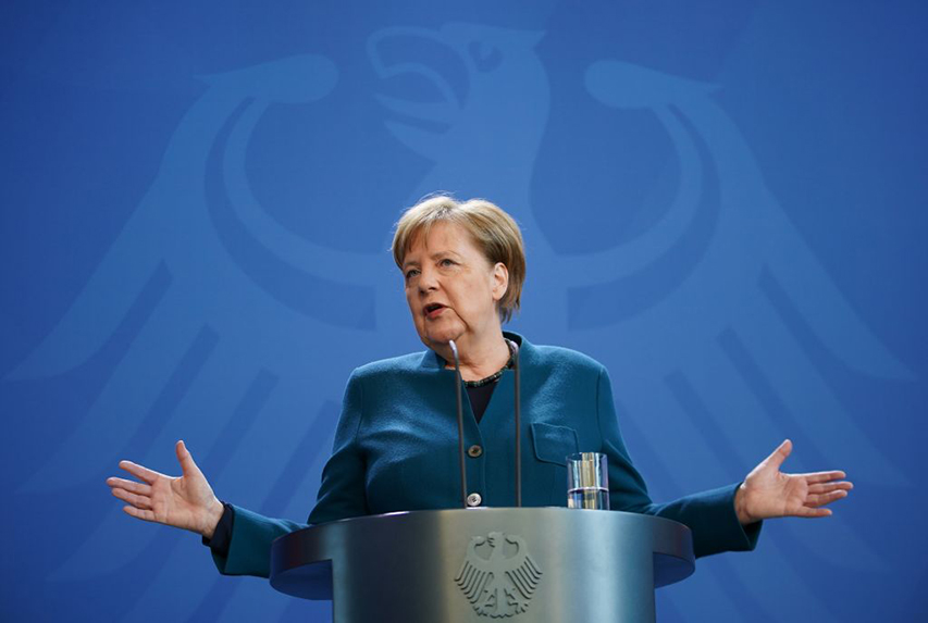 Chancellor Angela Merkel has been praised for her crisis comms skills. (Photo: Clemens Bilan/Getty Images)