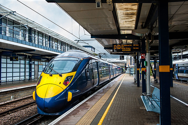 A javelin train at Ashford International Station in Kent (Photo: Andrew Errington/Getty Images contributor)