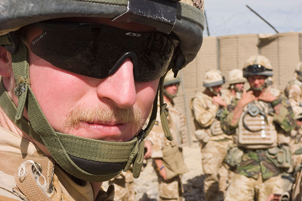 British Army officer in Helmand Province, Afghanistan (Pic credit: Lachlan Bucknall/Alamy Stock Photo)