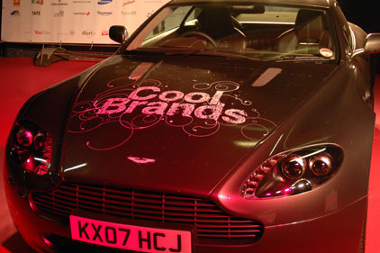 Cool: Aston Martin topped last year's CoolBrands list