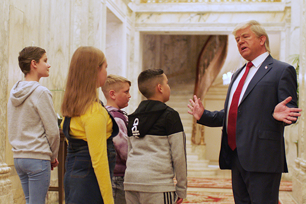 British kids got to meet 'Donald Trump' at the Plaza Hotel in a recreation of a scene in Home Alone 2