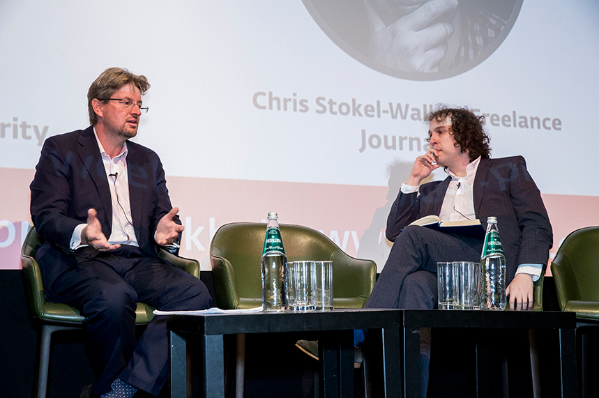 (l-r) The CMA's Jason Freeman and journalist Chris Stokel-Walker discuss influencer marketing regulation